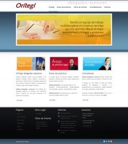Sitio web del site de Oritegi abogados asesores.